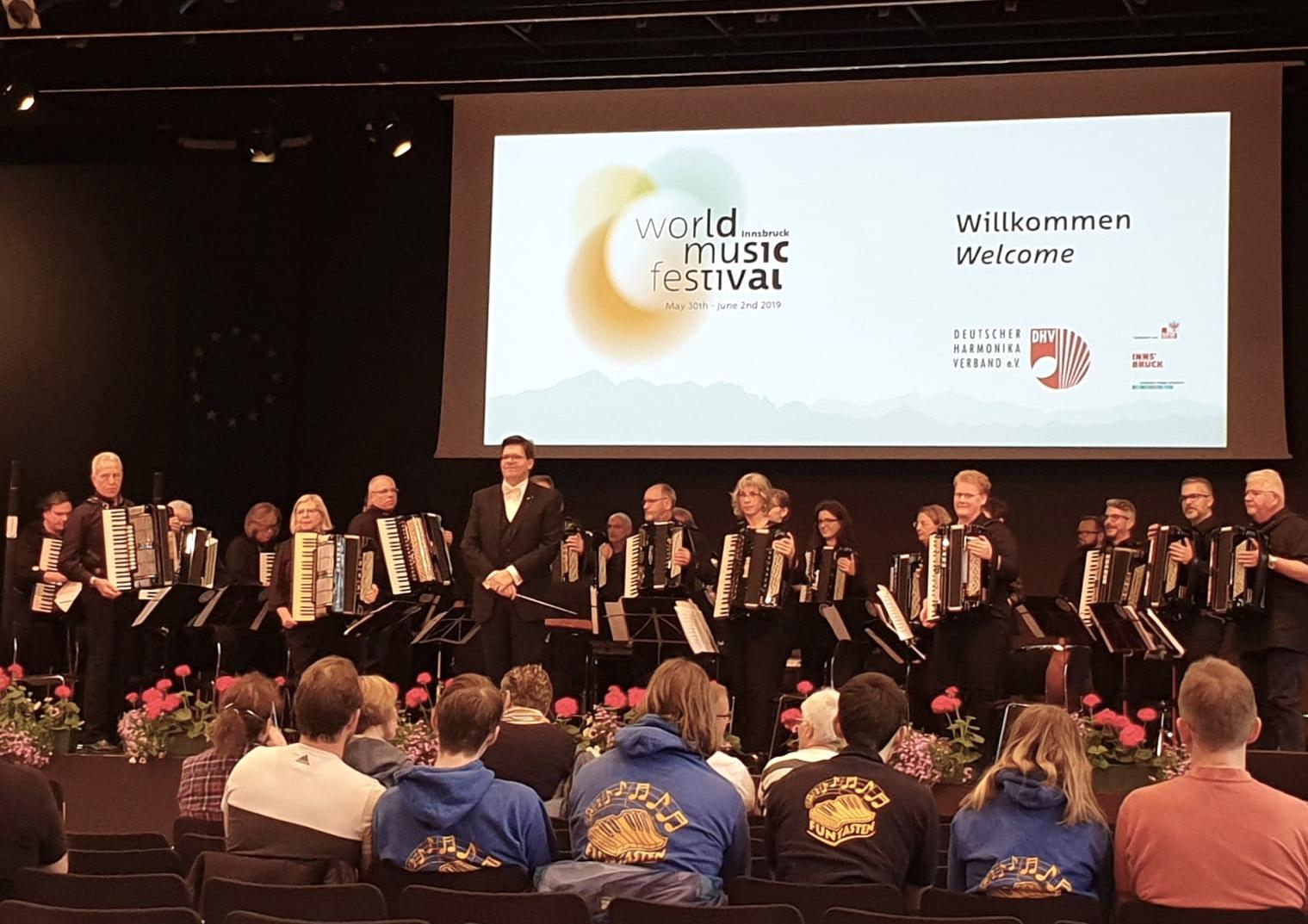 """Akkordeonfreunde Grötzingen """"ausgezeichnet"""" beim 13. World Music Festival Innsbruck"""